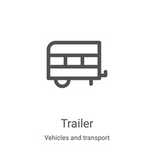 Trailer Icon Vector From Vehic...