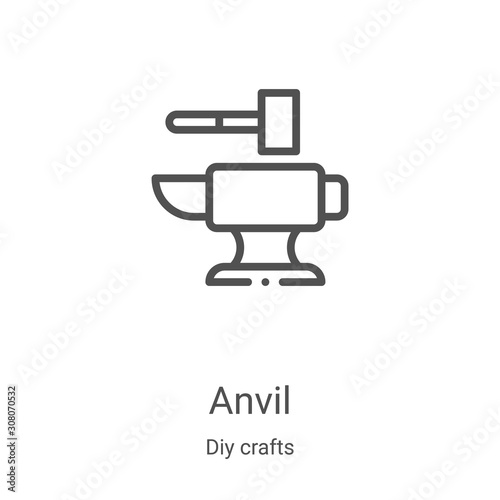 Photo anvil icon vector from diy crafts collection