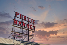 Neon Sign For Public Market In...