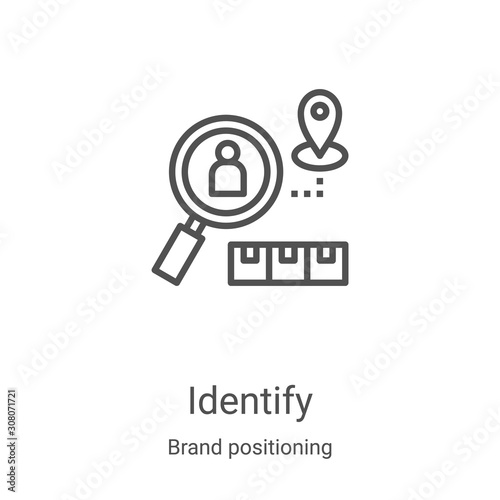 Fotomural identify icon vector from brand positioning collection