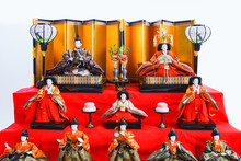 Landscape Of Japanese Traditional Doll For Praying Girl's Growth In Japan