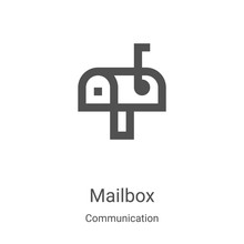 Mailbox Icon Vector From Commu...