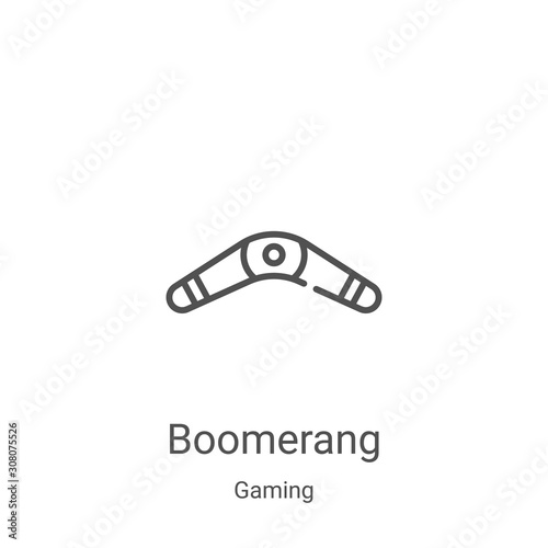 boomerang icon vector from gaming collection Canvas Print