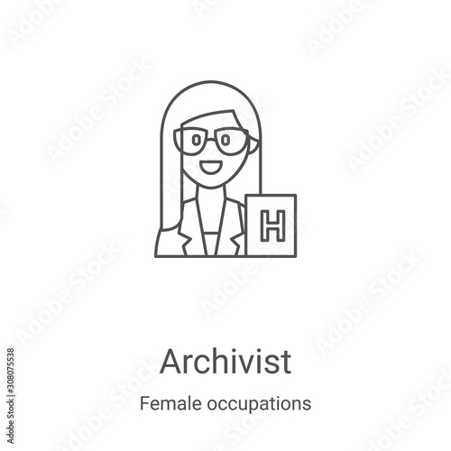 archivist icon vector from female occupations collection Wallpaper Mural