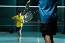 Asian Badminton Player Is Hitt...