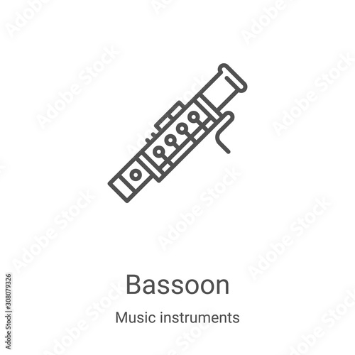 Photo bassoon icon vector from music instruments collection