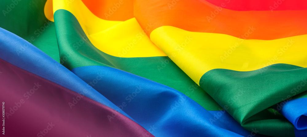 Fototapeta Rainbow flag as background