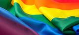 Fototapeta Tęcza - Rainbow flag as background