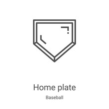 Home Plate Icon Vector From Ba...