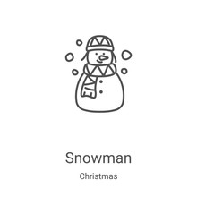 Snowman Icon Vector From Chris...