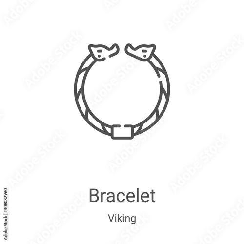 Fotografía bracelet icon vector from viking collection