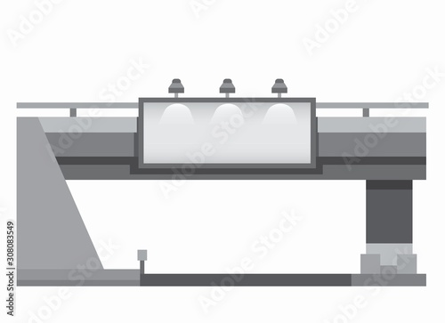 Fotomural Urban billboard with light under overpass commercial mockup for advertisement si
