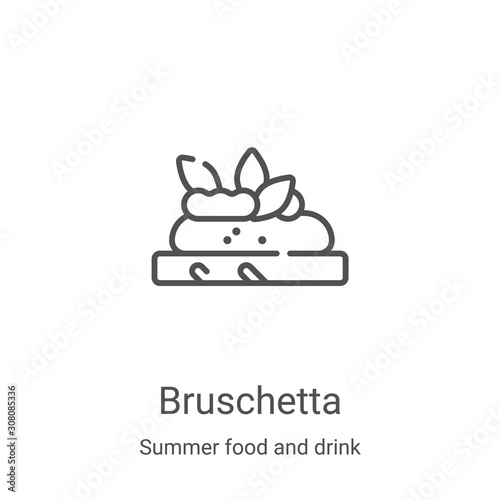 bruschetta icon vector from summer food and drink collection Canvas Print