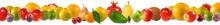 Image Of Various Ripe Fruits On White Background Close-up
