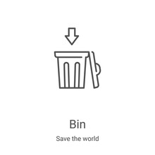 Bin Icon Vector From Save The ...
