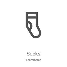 Socks Icon Vector From Ecommer...