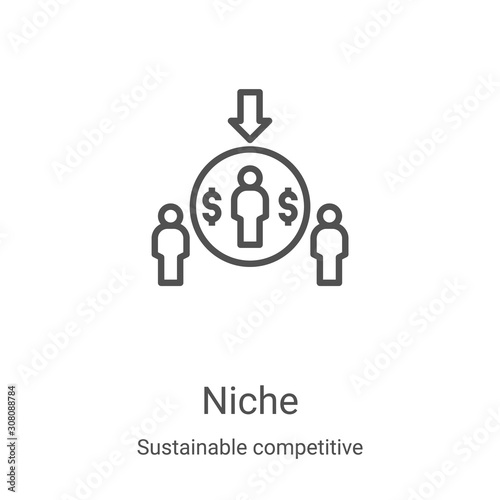 niche icon vector from sustainable competitive advantage collection Wallpaper Mural