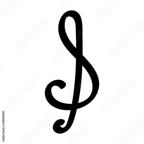 Fotografia treble clef. doodle writing design vector element