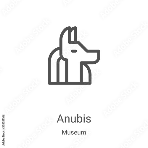 anubis icon vector from museum collection Canvas Print