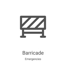 Barricade Icon Vector From Eme...