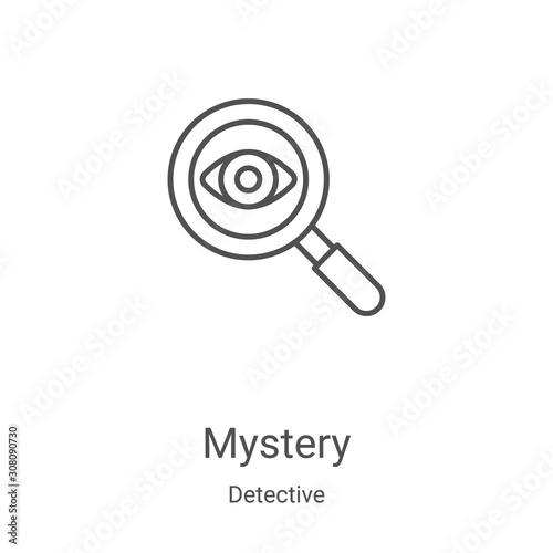 mystery icon vector from detective collection Tablou Canvas