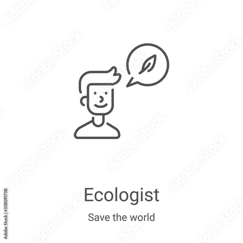 Fotografie, Tablou Ecologist icon vector from save the world collection