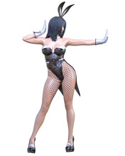 3D Comics Cosplay Anime Bunny Girl.