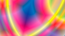 Neon Light. Kaleidoscope. Abstract Glowing Different Colors Background.