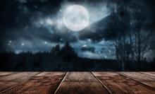 Wooden Winter Table. Winter Em...