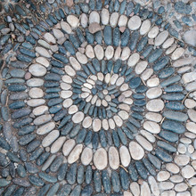 Pebbles Formed In A Stone Spiral