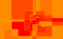 Red And Yellow Abstract Square...