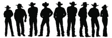 Vector Silhouettes Of Cowboys ...