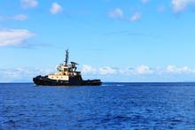 Tugboat On The Caribbean Sea, ...