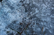 canvas print picture - Frozen lake surface closeup. Natural lake ice background