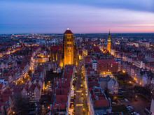 Gdansk St. Mary Church And Tow...