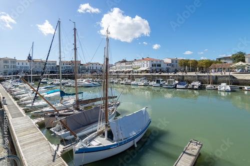 Obraz na plátně Le Port de La Flotte, sur l'Ile de Ré