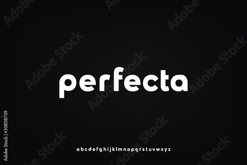 Fotografia perfecta, a modern sans serif alphabet display font