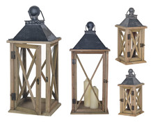 Collection Of Wooden Lanterns....