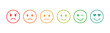Set of emoticons with different moods. Emoji.