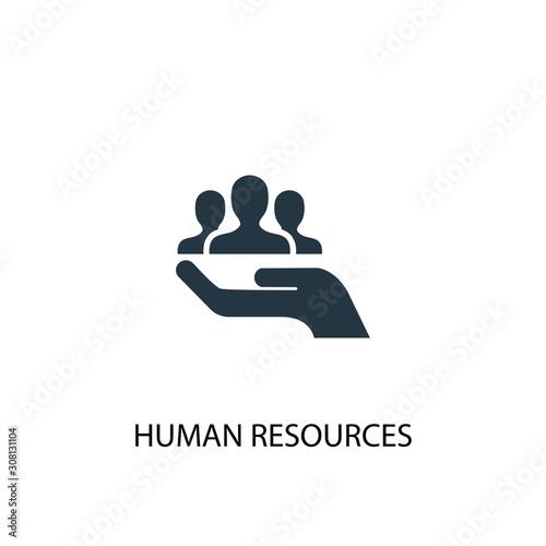 Cuadros en Lienzo human resources icon. Simple element illustration
