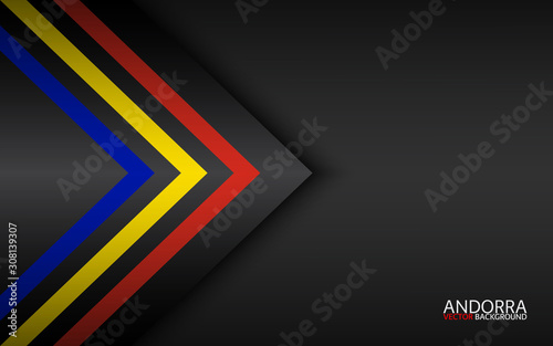Modern vector colorful arrows with Andorra colors and grey free space for your t Wallpaper Mural