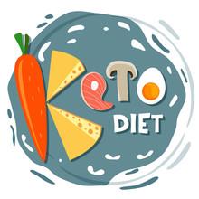 Ketogenic Diet, Conceptual Vec...