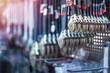 Leinwanddruck Bild - Adjustable size brand new wrench on hardware store shelf tool buying shopping