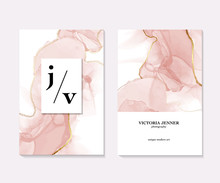 Vector Marble Template, Artistic Covers Design, Colorful Texture, Realistic Card With Pink Oft Liquid Flow, Backgrounds. Trendy Pattern, Business Card, Flyer, Graphic Poster, Geometric Brochure