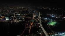 Singapore City Flight Over Nig...