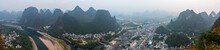 Karst Mountains In Guilin South China