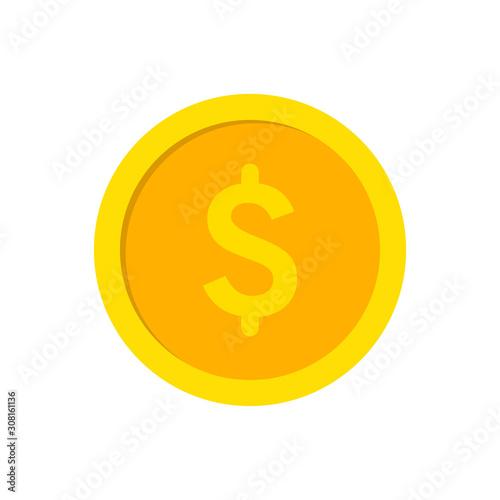 Fototapeta  Dollar coin icon