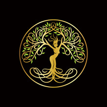 The Goddes Tree Logo, Nature Logo