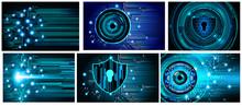 Blue Cyber Circuit Future Tech...
