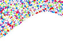 Orange Polka Effect Design. Invitation Dot Banner. Celebration Background. Color Polka Invitation Illustration. Splash Decoration Wallpaper.